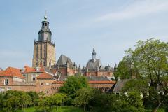 dutch church tower - stock photo
