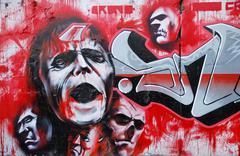 Vampire graffity Stock Photos