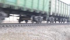 FullHD video of freight train - stock footage