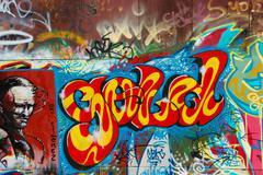 color graffiti - stock photo