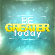 be greater today - stock illustration