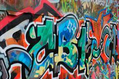 colorful graffiti - stock photo