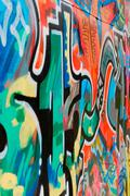 nice graffiti - stock photo