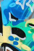 elements of colorful graffiti - stock photo