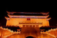 Night illumination of temple Stock Photos