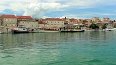 Trogir, Croatia cityscape Stock Footage
