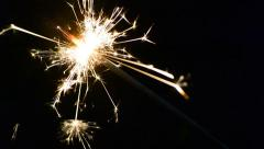Sparklers and dark background (oblique) Stock Footage