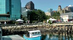 Halifax Nova Scotia New Scotland Canada 026 cityscape behind seaport Stock Footage