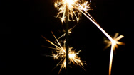 Stock Video Footage of Sparklers and dark background (vertical)