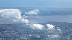 Flying over Manaus, Brazil Stock Footage