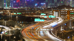 4k timelapse video of a busy highway Stock Footage