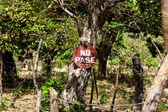no pasar, private property - stock photo
