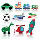 Stock Illustration of colored funny toy design