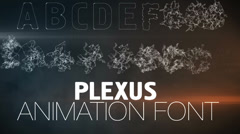 Plexus Animation Font Stock After Effects