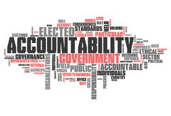 "Word cloud ""accountability"" Stock Illustration"