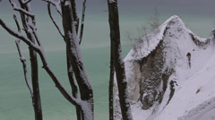 Beautiful Winter Time Impression Of Rügen Island With Snow - stock footage