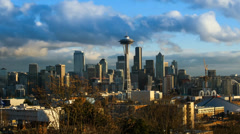 Time Lapse downtown Seattle - stock footage