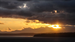 Sunset over the Puget Sound Stock Footage