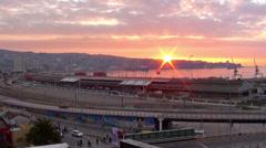 0422 Sunset at Valparaiso Stock Footage