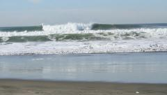 Big Swells in California Stock Footage