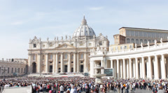 Pope Speech San Pietro Stock Footage