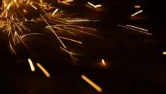 Metal Cutting With Sparks 1280x720  50fps 12 Stock Footage