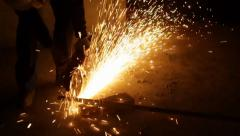 Metal Cutting With Sparks 1280x720  50fps 02 - stock footage