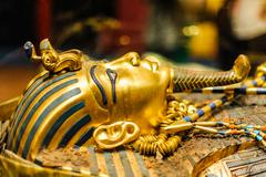 Mask of pharaoh Tutankhamun Stock Photos