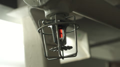 Sprinkler System Thermostat and Detail - stock footage