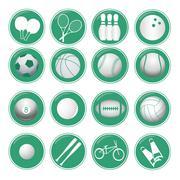 Sport icon designs Stock Illustration