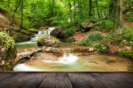 Stock Photo of natural spring waterfall