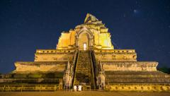 Wat Chedi Luang Famous Temple Of Chiang Mai, Thailand (effects) - stock footage