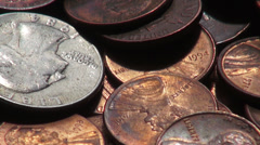 Coins, Money, Currency Stock Footage