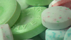 Mint Candy, Sweets, Suger, Treats Stock Footage