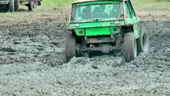 Raid 4X4 adventure race - stock footage