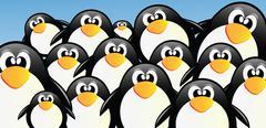 Penguins Stock Illustration