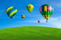 Hot air balloons - stock photo