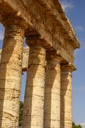 Segesta archaeological site of ancient greece drills sicily italy Stock Photos