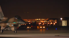 An F-16 assigned to the 64th Aggressor Squadron Stock Footage