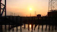 Port of New Orleans Drawbridge Stock Footage
