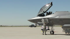 Luke Air Force Base First F-35 Stock Footage