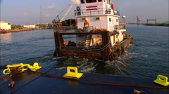 Port of New Orleans Tugboat Stock Footage
