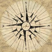 compass face - stock illustration
