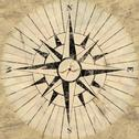 Compass face Stock Illustration