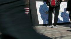 Boston Marathon Bombing Victims Memorial Stock Footage