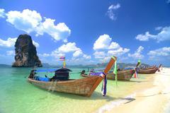 kho poda in krabi thailand - stock photo