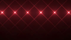 Red Flickering Lights in Cross Shape, Looping Motion Background Stock Footage
