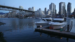 Dawn, Granville Island Yachts, Vancouver Stock Footage