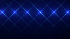 Blue Flickering Lights in Cross Shape, Looping Motion Background Stock Footage