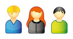 Set of icons representing people Stock Illustration